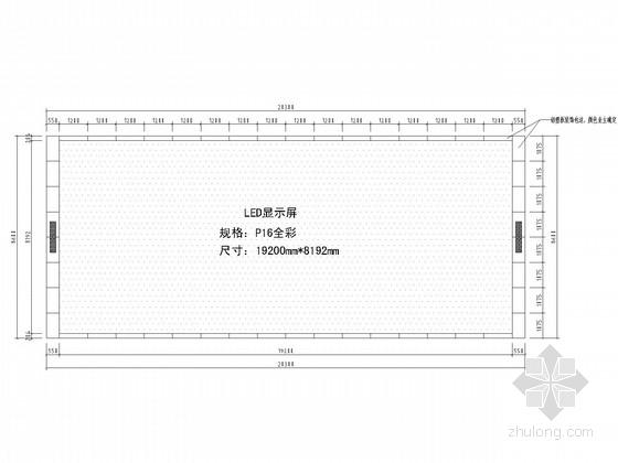 LED户外彩屏钢桁架结构施工图