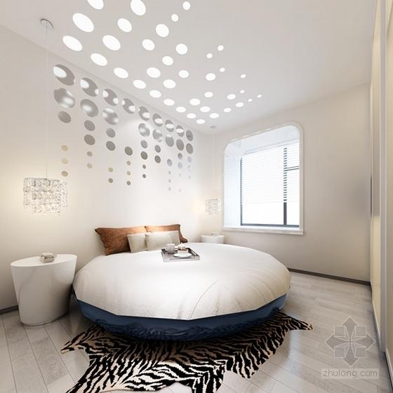 [湖北]现代时尚浪漫两居室室内设计施工图(含效果图)-[湖北]现代时尚浪漫两居室室内设计效果图