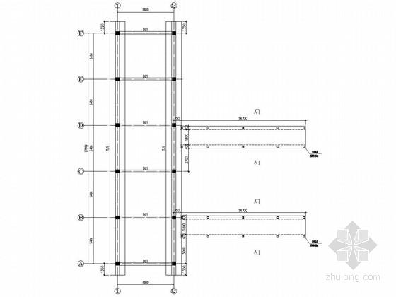 [世博会]单层框架结构小厨房结构施工图