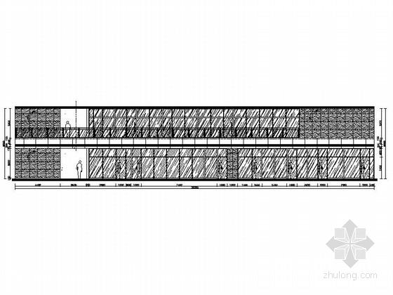 [山东]全球最大汽车改装厂商之一汽车4S店展厅装修施工图(含水暖图)立面图