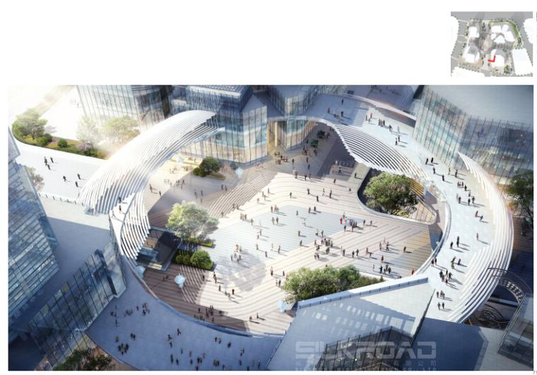 [浙江]休闲开放商业绿地景观概念设计-分区效果图