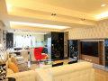 198平奢华复式玄关客厅餐厅装修效果图