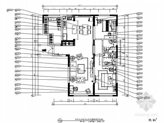 [黑龙江]一小套温馨舒适的三居室设计施工图