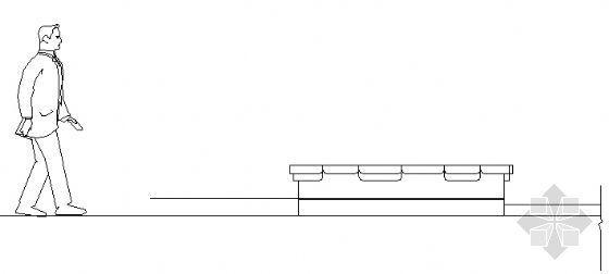 圆形花坛结构图二