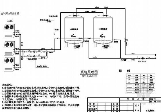 空气源热泵热水器设计系统原理图