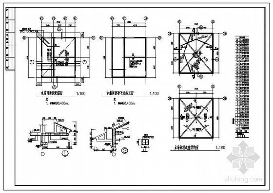 某住宅水箱间节点构造详图