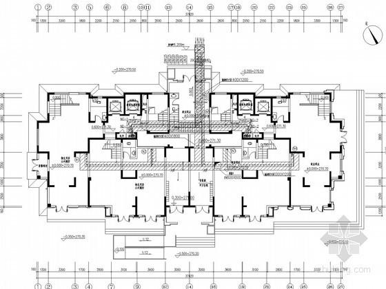高层住宅楼采暖通风系统设计施工图