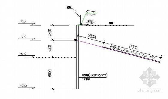 [黑龙江]大学宿舍楼深基坑钢板桩支护施工方案(锚杆)