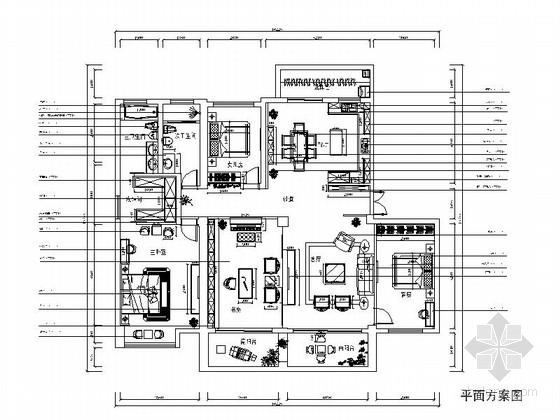 [苏州]某花园四居室中式风格成套方案(含报价清单)