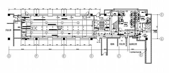 某三层办公楼弱电设计平面图