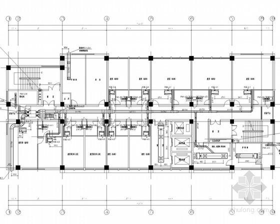 [安徽]社区办公综合楼通风空调排烟系统设计施工图(含安装图)