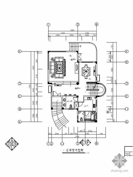 [广州]某四层别墅装修设计图