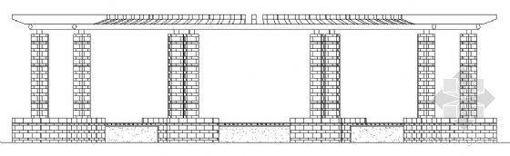 两种弧形花架施工图
