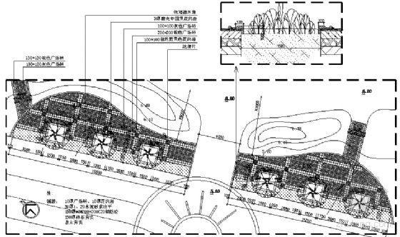 广场(一)平面图
