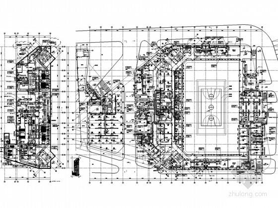 [江苏]体育中心暖通空调全套施工图(大院图纸、座椅送风)