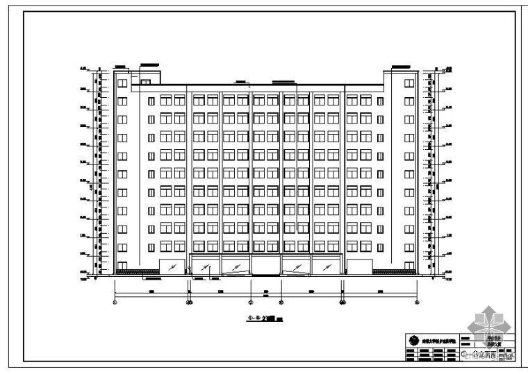 [学士]成都某商务楼毕业设计建筑结构设计图(含电算模型)