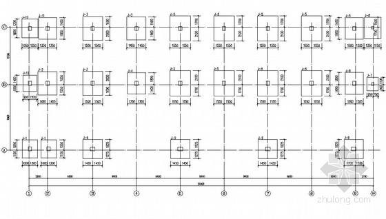 福建某110kV变电站配电楼结构设计图