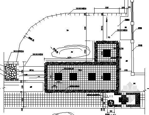 中学校园前广场园林景观工程施工图