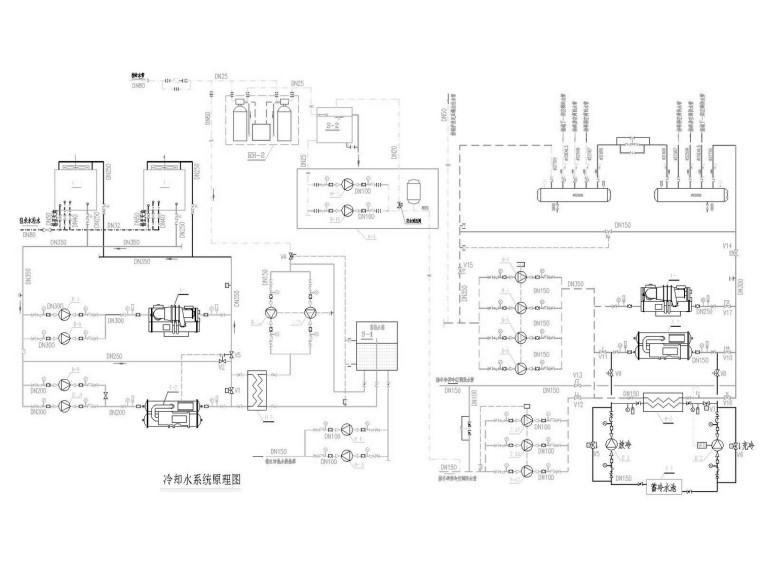 [上海]豪华酒店制冷机房及自控系统设计施工图
