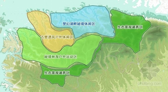 [四川]禅茶古镇景观规划方案设计-功能分区