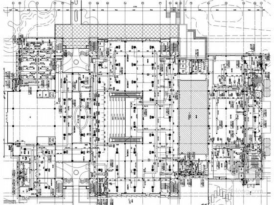 [湖南]图书馆建筑空调通风排烟系统设计施工图(施工节点详图)