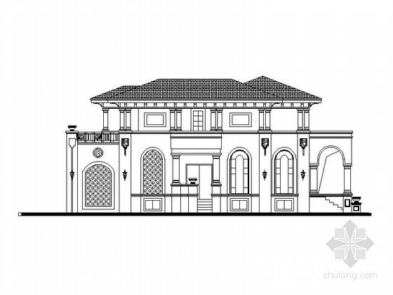 [广东]高档欧式别墅建筑设计施工图(造型漂亮 含多个方案)