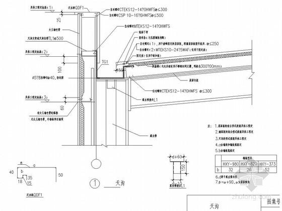 压型钢板屋面节点详图
