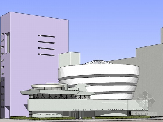 古根海姆博物馆SketchUp模型下载