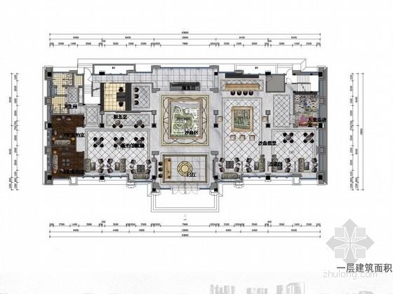[涿州]奢华欧式新古典主义风格售楼处室内设计方案