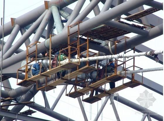[北京]创新基地钢结构厂房施工方案(张弦梁 2011年)