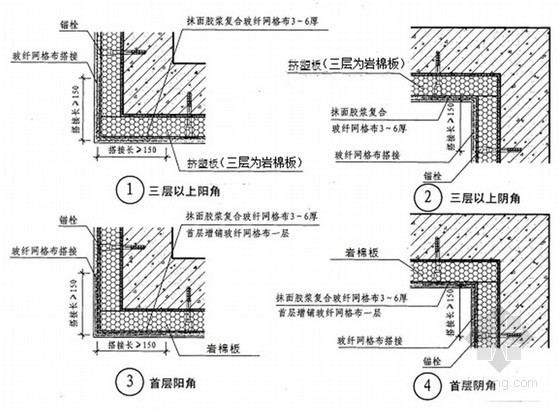 [天津]高层住宅小区外保温节能工程施工方案(挤塑聚苯板、岩棉板)