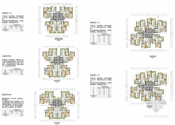 现代风格高层安置区规划方案平面图