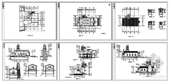 某一层欧洲风格教堂建筑方案-4