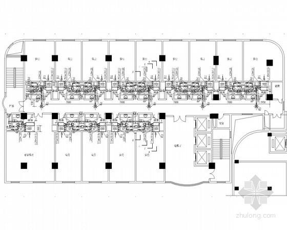 酒店建筑空调系统设计施工图(新风机房 大样图)