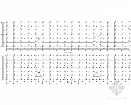 标准化加工车间钢框架结构施工图