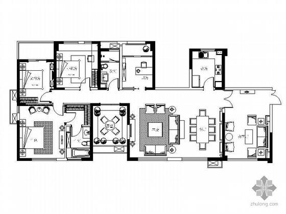 万科160平米三居样板间装修图