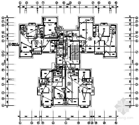 [长沙]某92户居民住宅楼全套电气施工图纸
