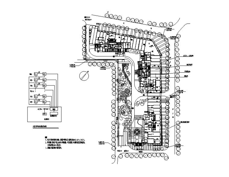 政策性高层住房工程电气施工图(附照度计算)