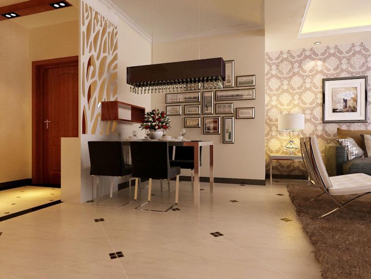 尊贵典雅 简欧风格两居室设计