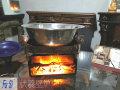 美食广场一条街烤鱼店餐桌台式双面微型伏羲文化电壁炉火炉芯尺寸