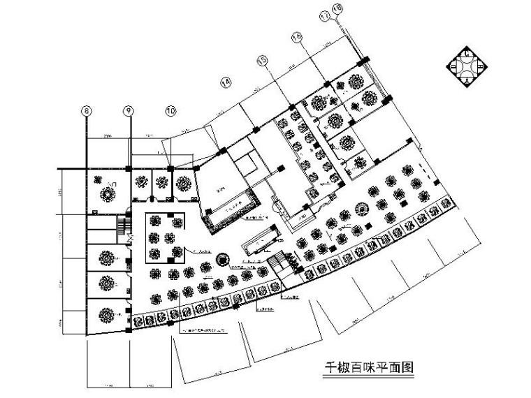 [重庆]知名连锁餐饮新中式特色火锅店室内设计施工图