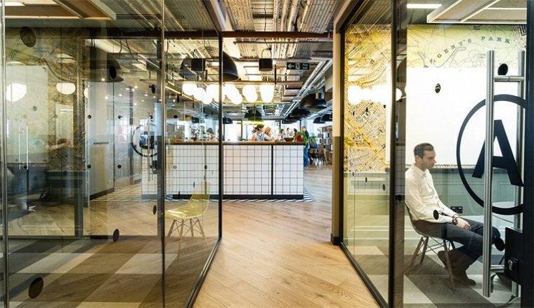 咖啡厅风格的联合办公空间-帕丁顿区WEWORK联合办公室室内实景图 (17)