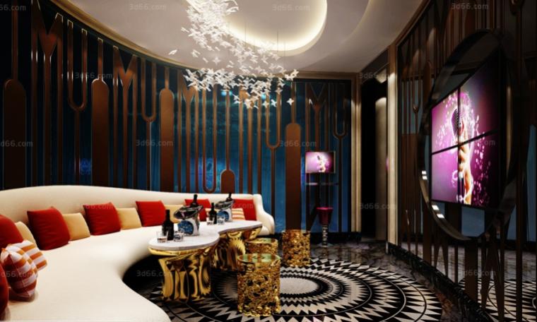 12套现代、后现代、中式、美式风格酒吧KTV模型合集