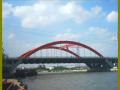 [QC成果]钢管拱立拼及浮运架设施工
