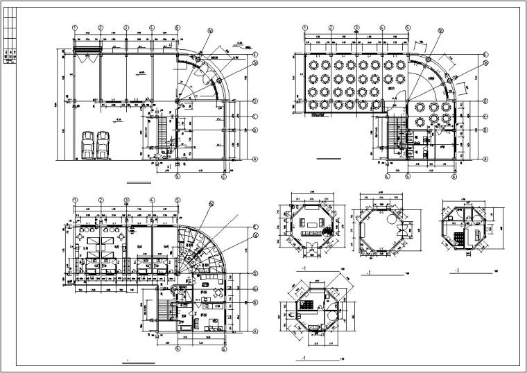 欧式多层宾馆酒店建筑设计施工图-欧式多层宾馆酒店建筑设计平面图