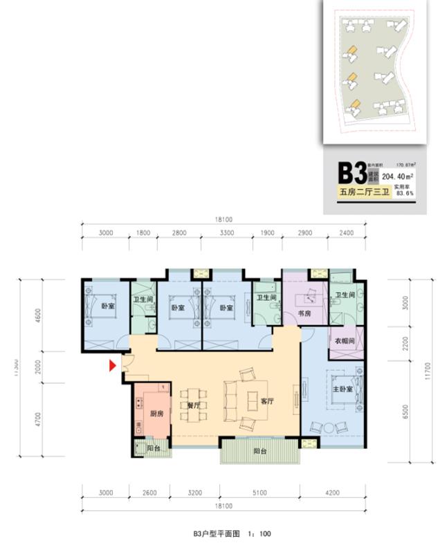 深圳某商品房小区规划概念方案设计(含户型及会所平面图)-户型平面