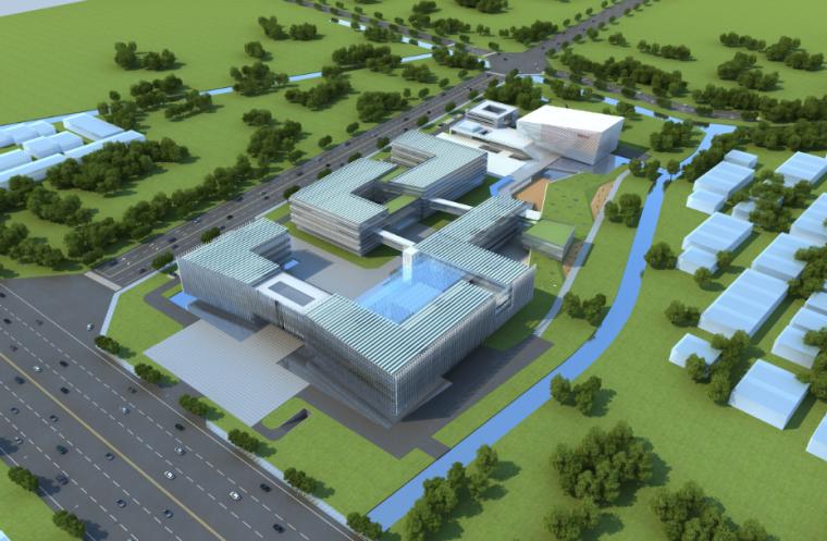 高层现代风格电网调度中心办公楼方案文本_1