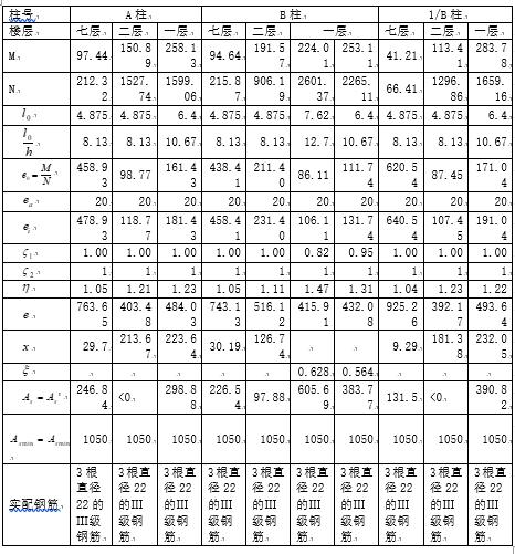 7层钢筋混凝土框架结构设计计算书
