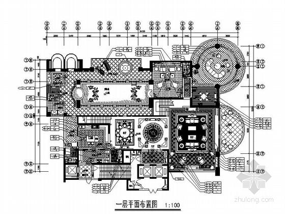 [上海]豪华古典二层别墅欧式风格样板房装修图(含效果图)