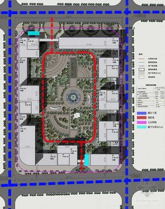[北京]国内知名企业集团总部规划设计方案文本(含多个方案)-国内知名企业集团总部规划分析图